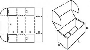 Гофрокороб с ушками 2
